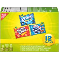 Nabisco Cookies Variety Pack Mini Chips Ahoy, Oreo & Nutter Butter 12CT Box product image