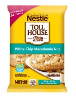 Nestle Toll House Cookie Dough White Chip Macadamia Nut 24CT 16oz PKG product image