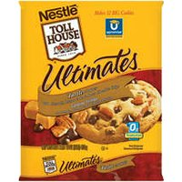 Nestle Toll House Cookie Dough Ultimates Pecan Turtle Cookies 12CT 16oz PKG product image