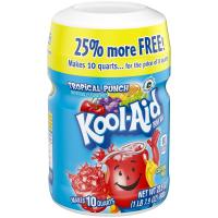Kool-Aid Drink Mix Tropical Punch Makes 8QTS 19oz PKG product image
