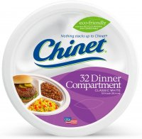 Chinet Premium Strength Paper Compartment Plates 32CT product image