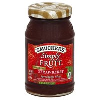 Smucker's Simply Fruit Seedless Strawberry Spreadable Fruit 10oz Jar product image