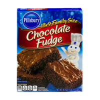Pillsbury Chocolate Fudge Brownie Mix Family Size 18.4oz Box product image