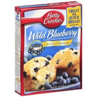 General Mills Betty Crocker Wild Blueberry Premium Muffin & Quick Bread Mix 16.9oz Box product image