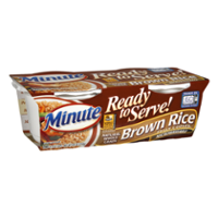 Minute Ready To Serve Natural Whole Grain Brown Rice 2CT 4.4oz EA 8.8oz PKG product image