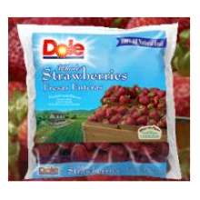 Dole Frozen Whole Strawberries 6LB Bag product image