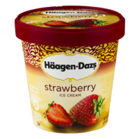 Haagen Dazs Ice Cream Strawberry 14oz PKG product image