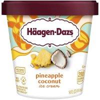 Haagen Dazs Ice Cream Pineapple Coconut 14oz PKG product image