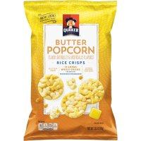 Quaker Butter Popcorn Rice Crisps Snacks 3.03oz Bag product image