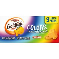Pepperidge Farm Goldfish Lunch Packs Colors Cheddar Crackers 1oz Bags 9ct product image