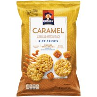 Quaker Caramel Rice Crisps Snacks 3.52oz Bag product image