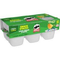 Pringles Snack Stacks Sour Cream & Onion Potato Crisps .74oz EA 12CT 8.88oz PKG product image