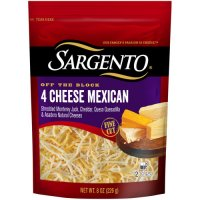Sargento Off the Block Fine Cut 4 Cheese Mexican Shredded Cheese 8oz Bag product image