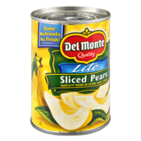 Del Monte Lite Sliced Pears in Extra Light Syrup 15oz Can product image