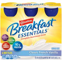 Carnation Instant Breakfast Essentials Drink Classic French Vanilla 6PK of 8oz BTLS product image