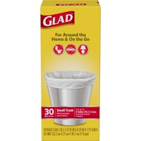 Glad Small Garbage Bags 4 Gallon 30CT product image