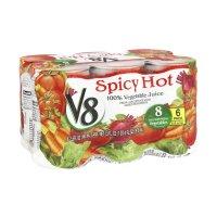 V8 100% Vegetable Juice Spicy Hot 5.5oz EA 6PK product image