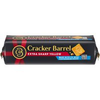 Cracker Barrel Cheese Extra Sharp Cheddar Yellow 2% Reduced Fat 8oz product image