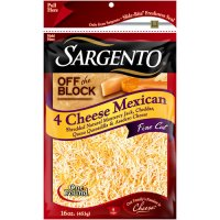 Sargento Off The Block 4 Cheese Mexican 8oz Bag product image