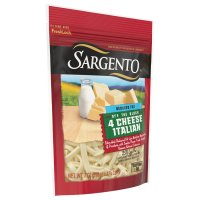 Sargento Reduced Fat 4 Cheese Italian Shredded Cheese 7oz Bag product image