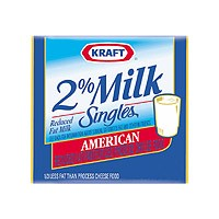 Kraft American Cheese Singles 2% Milk Reduced Fat 16CT 12oz PKG product image