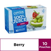 Capri Sun 100% Juice Pouches Berry 10CT 6oz EA 60oz PKG product image