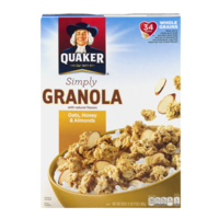 Quaker Simply Granola Oats, Honey & Almonds Cereal 28oz Box product image