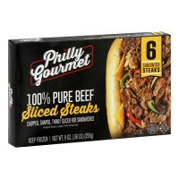 Philly Gourmet Steaks For Sandwiches 6CT 9oz Pkg product image