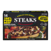 Philly Gourmet Steaks For Sandwiches 14CT 24oz PKG product image