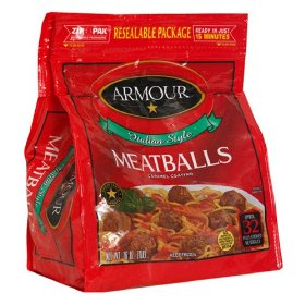 Armour Italian Style Meatballs 14oz Bag product image