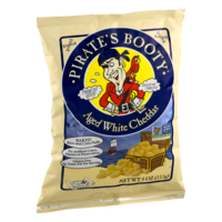 Pirates Booty Gourmet Puffed Rice & Corn Snack Aged White Cheddar 4oz Bag product image