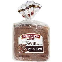 Pepperidge Farm Deli Swirl Bread Rye and Pump 16oz PKG product image