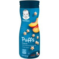 Gerber Puffs Peach 1.48oz PKG product image