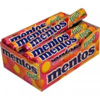 Mentos Chewy Mint Candy Fruit Flavor 15 Roll Pack 1.32oz EA Roll product image