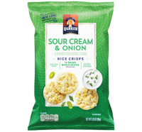 Quaker Sour Cream & Onion Rice Crisps Snacks 3.3oz Bag product image