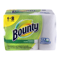 Bounty Paper Towels Big Roll White 54 Full Size Sheets 2-Ply 6CT product image