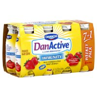 Dannon DanActive Immunity  Drinkable Yogurt Strawberry 8PK of 3.1oz EA product image
