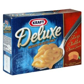 Kraft Deluxe Macaroni & Cheese Dinner with Sharp Cheddar Cheese Sauce 14oz PKG product image