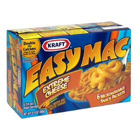 Kraft Easy Mac Extreme Cheese Macaroni & Cheese Dinner 6CT 12.9oz Box product image