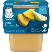 Gerber 2nd Foods Pear Pineapple 4oz 2PK product image