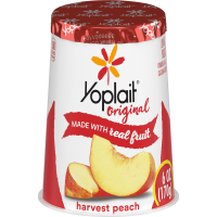 Yoplait Original Yogurt Lowfat Harvest Peach 6oz Cup product image