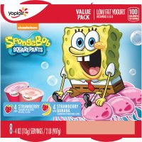 Yoplait Kids Strawberry/Strawberry Banana Low Fat Yogurt 4oz EA 8CT PKG product image