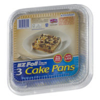 Hefty Ez Foil Cake Pans With Covers 8x8 3ct Pkg Garden