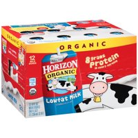 Horizon Organic Lowfat Milk Plain 12CT PKG 8oz EA product image