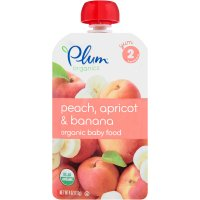 Plum Organics Baby Food Stage 2 Peach, Banana, & Apricot 4oz Pouch product image