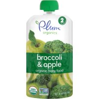 Plum Organics Baby Food Stage 2 Apple & Broccoli 4oz Pouch product image