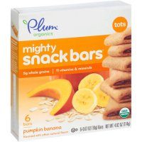Plum Organics Tots Mighty Snack Bars Pumpkin Banana 6CT 4.02oz  Box product image