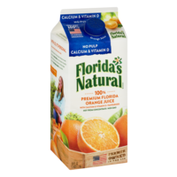 Florida's Natural Premium Orange Juice with Calcium No Pulp 52oz CTN product image