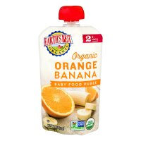 Earth's Best Organic Orange Banana Baby Food Puree 4oz Pouch product image