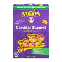 Annie's Real Cheddar Bunnies Baked Cheddar Bunnies Crackers 7.5oz Box product image